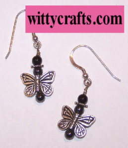 make butterfly earrings