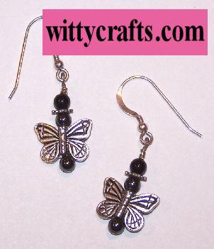 Beaded Butterfly Earrings – Free Bead Project