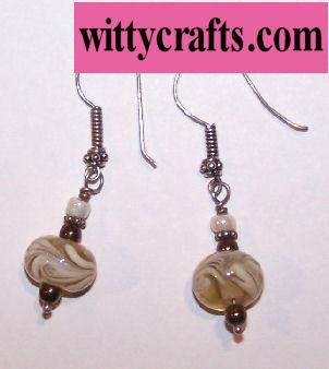 beaded earrings, lampwork beawds, tutorial