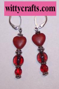 make heart bead earrings