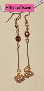 make beaded pearl earrings