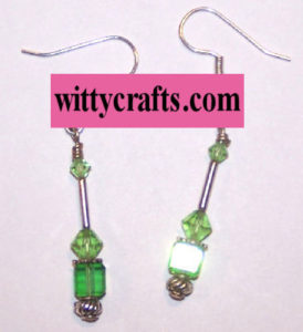 cube beads earrings to make