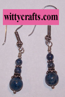 denim lapis beaded earrings to make