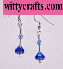 beaded flower earrings to make