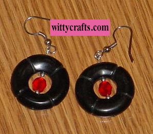 beaded earring tutorial, stone and crystal beaded earrings to make