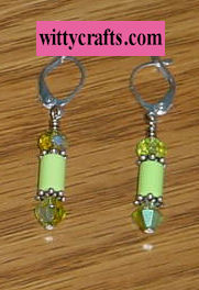 lime turquoise beads, beaded earring tutorial