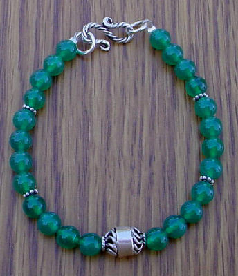 green onyx bracelet project to make