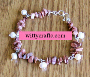 make beaded bracelet, chips beads