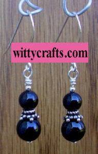 black onyx beaded earrings tutorial