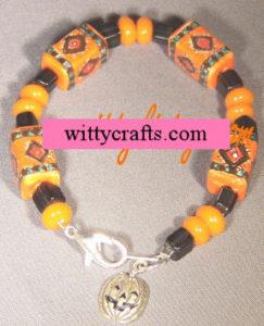 make halloween beaded bracelet, tutorial