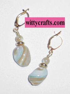 make mother of pearl beaded earrings