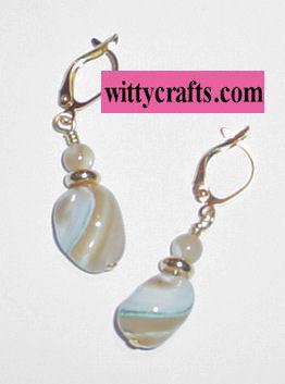MOP Nugget Beaded Earrings – Free Bead Project