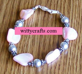 pearl bead bracelet tutorial