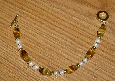 tiger eye bracelet tutorial