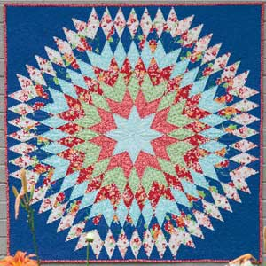 free quilted wall hanging pattern bursting star