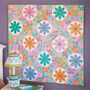 free quilted wall hanging pattern daisy