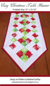 free quilting patter tabler runner topper christmas