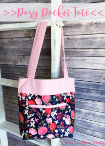 free pattern of a quilted tote bag posy