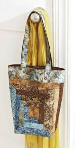 free log cabin quilted tote bag pattern