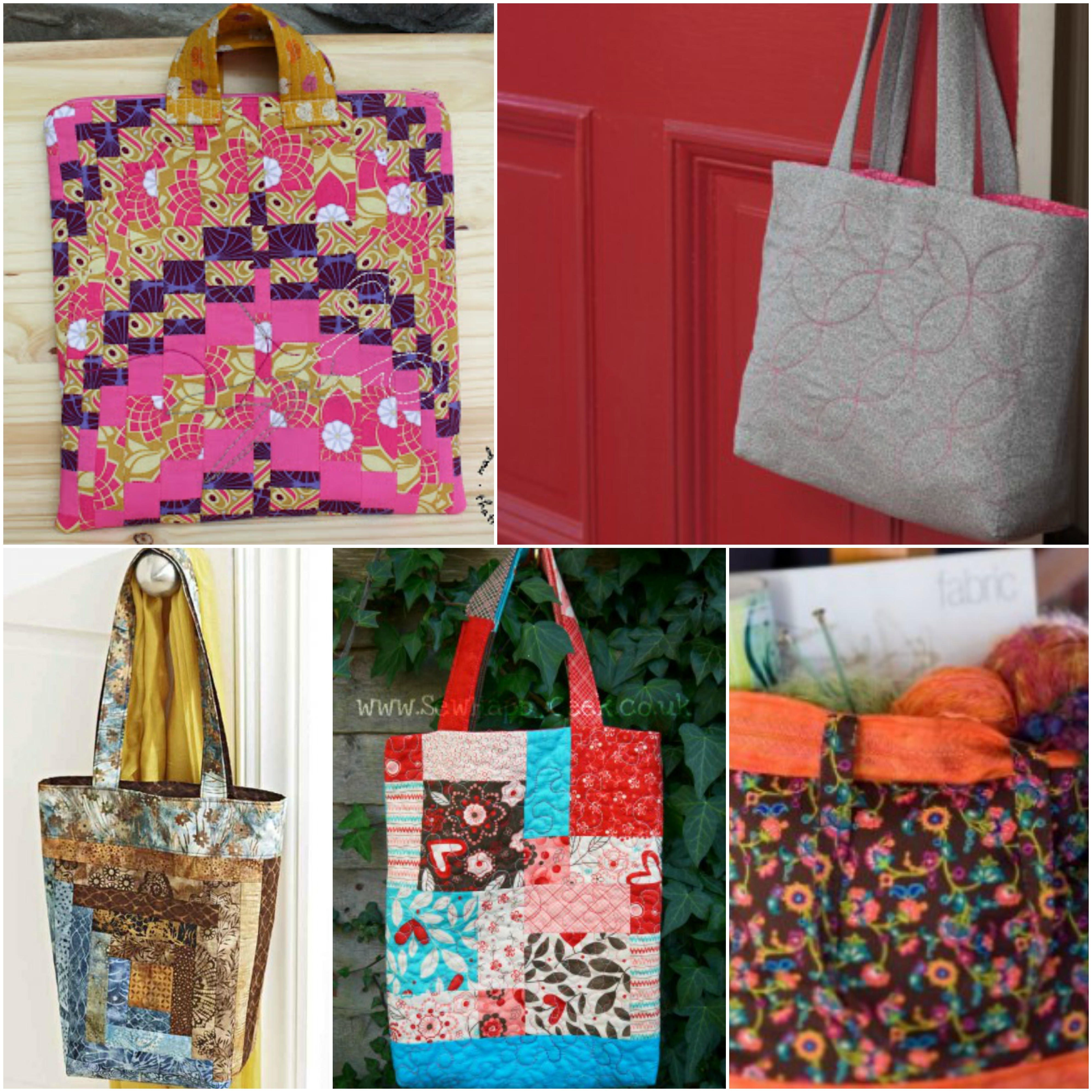 10 Plus Free Quilted Tote Bags Patterns Wittycrafts