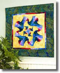 free quilted wall hanging pattern swirl log cabin