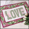 free quilted wall hanging pattern love