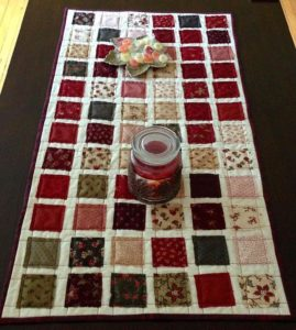 free quilting patter tabler runner topper