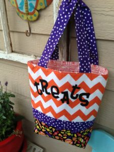 free sewing pattern halloween bag treats