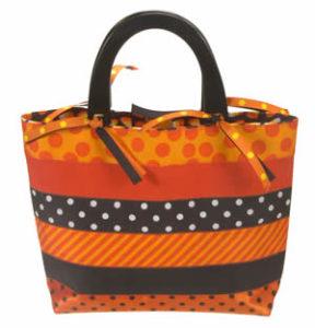 ribbon free sewing pattern halloween bag