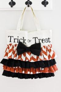 ruffle free sewing pattern halloween bag