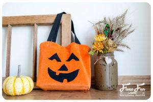 pumpkiun free sewing pattern halloween bag