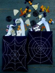 spider free sewing pattern halloween bag