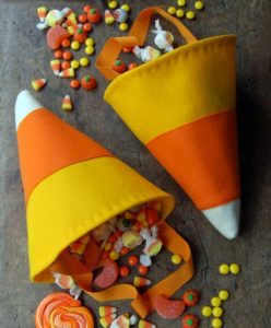 candy corn cone free sewing pattern halloween bag
