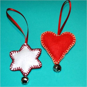 heart and snowflake ornament, easy christmas ornament to make