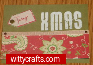 Handmade Christmas Card Making: Stamped XMAS Card
