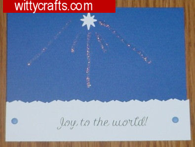 Handmade Christmas Card Making: Joy to the World