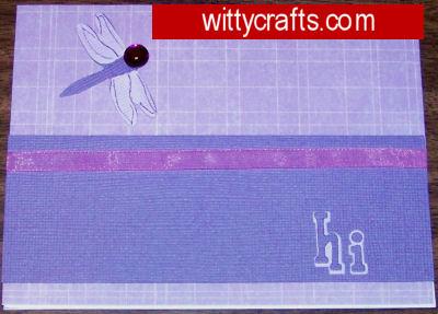 Handmade Card Making: Dragonfly Greeting