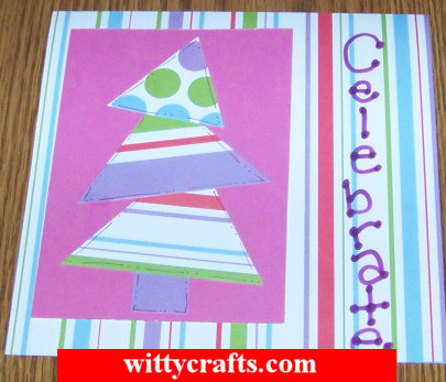 Handmade Christmas Card Making: Funky Tree
