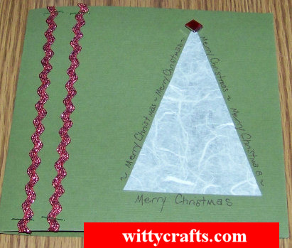 Handmade Christmas Card Making: Simple Paper Tree