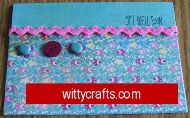 Handmade Card Making: Get Well Soon Card