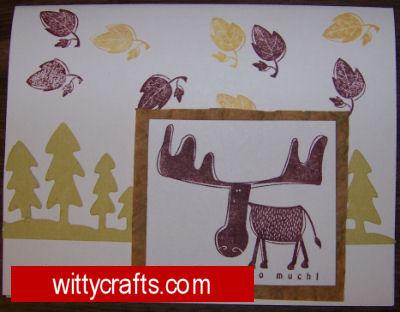 Handmade Card Making: Moose You So Much